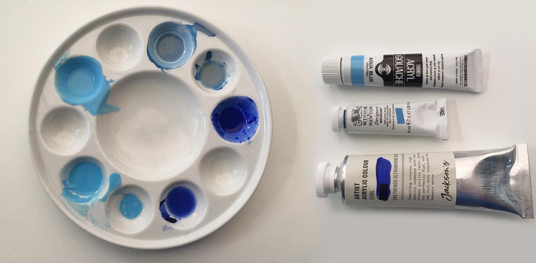 Comparing acrylic gouache, traditional gouache and acrylic paint.