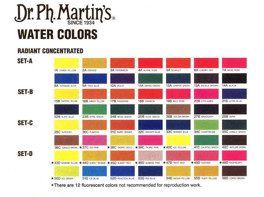 Radiant Colour Chart Jacksons Art Blog