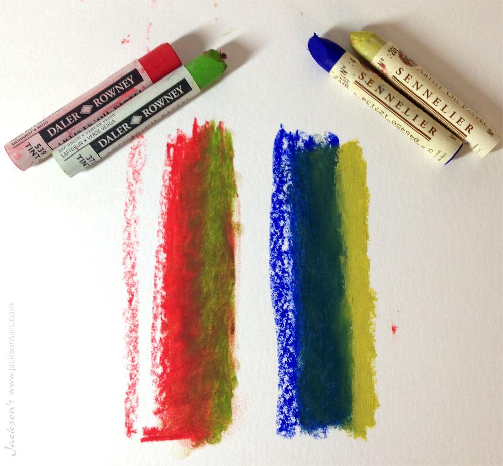 Oil Pastel Fixative testing - Jackson's Art Blog