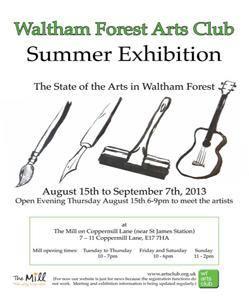 Waltham Forest Arts Club Summer Exhibition 2013