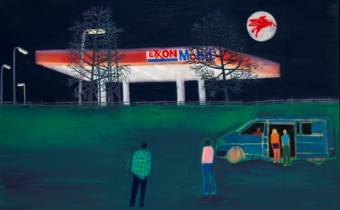 Filling Station by Tom Hammick Oil on linen, 122 x 163 cm