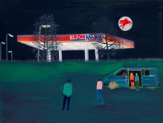 Filling Station by Tom Hammick Oil on linen, 122 x 163 cm
