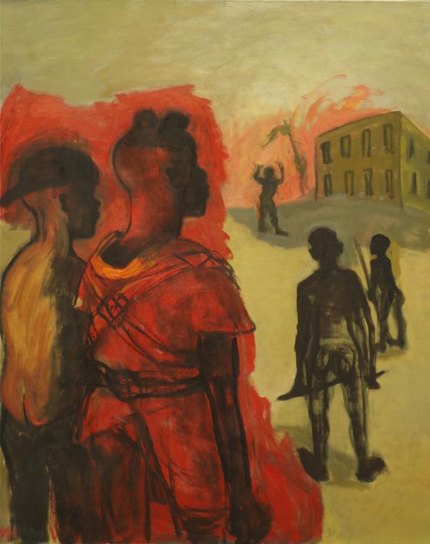 Marcelle Hanselaar, Child Soldiers 3, Oil on canvas, 100 x 82 cm