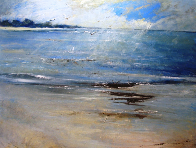 Towards the Pinewoods Holkham by Pat Tinsley