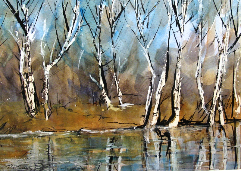 Autumn Glow on the River Ant II by Pat Tinsley