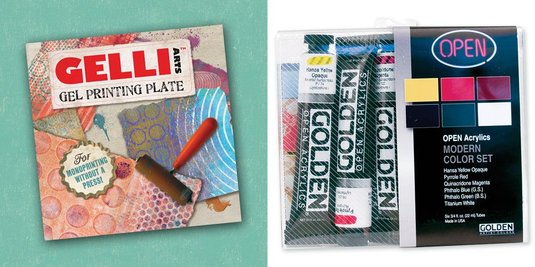 Gelli Arts gel printing plate for Monoprinting Workshop