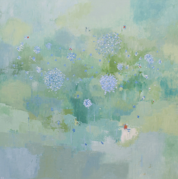 'Searching for Spring' by Sandra Robinson, Oil on Canvas, 90cm x 90cm, 2013
