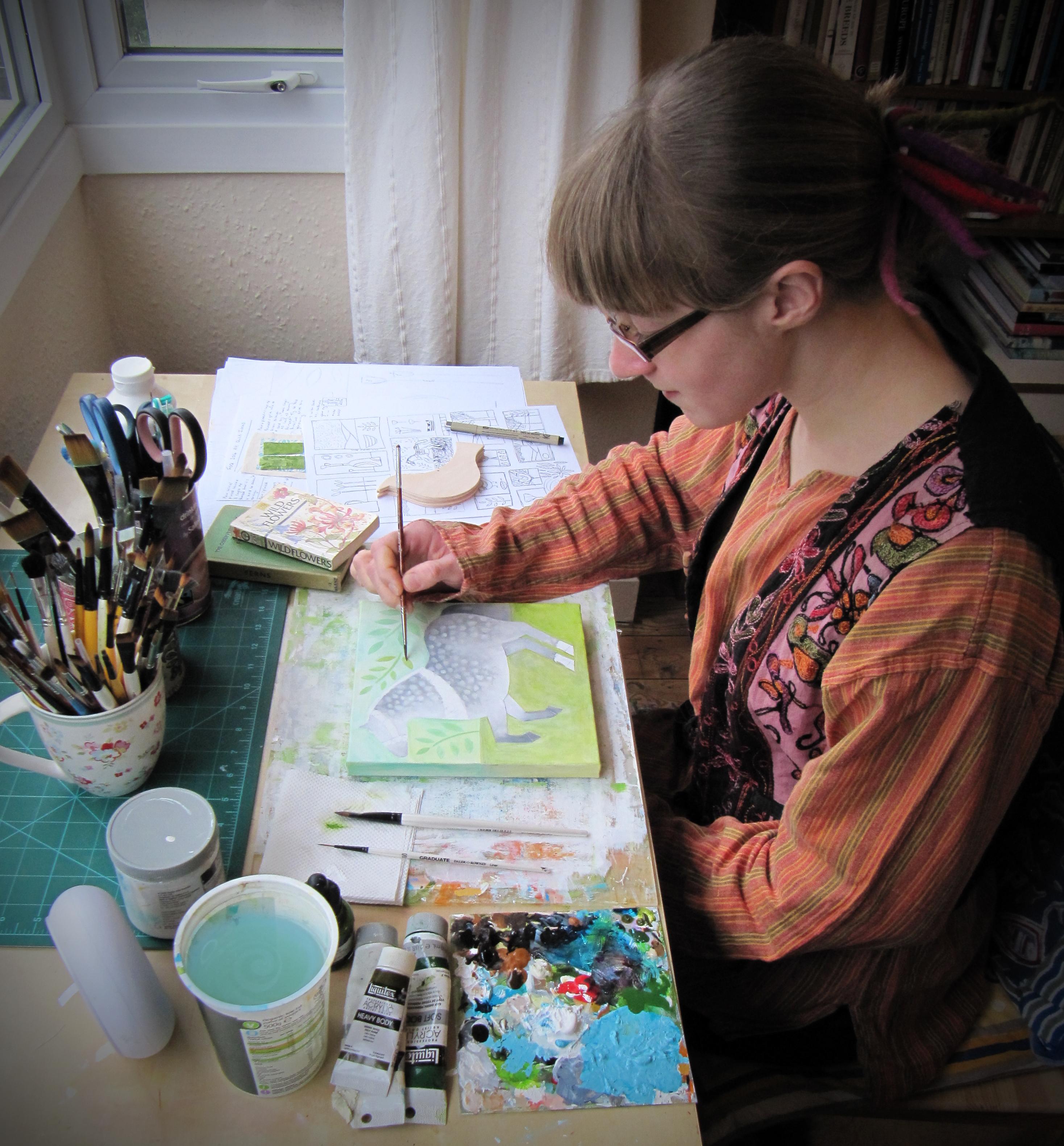 Chloe Redfern in her studio