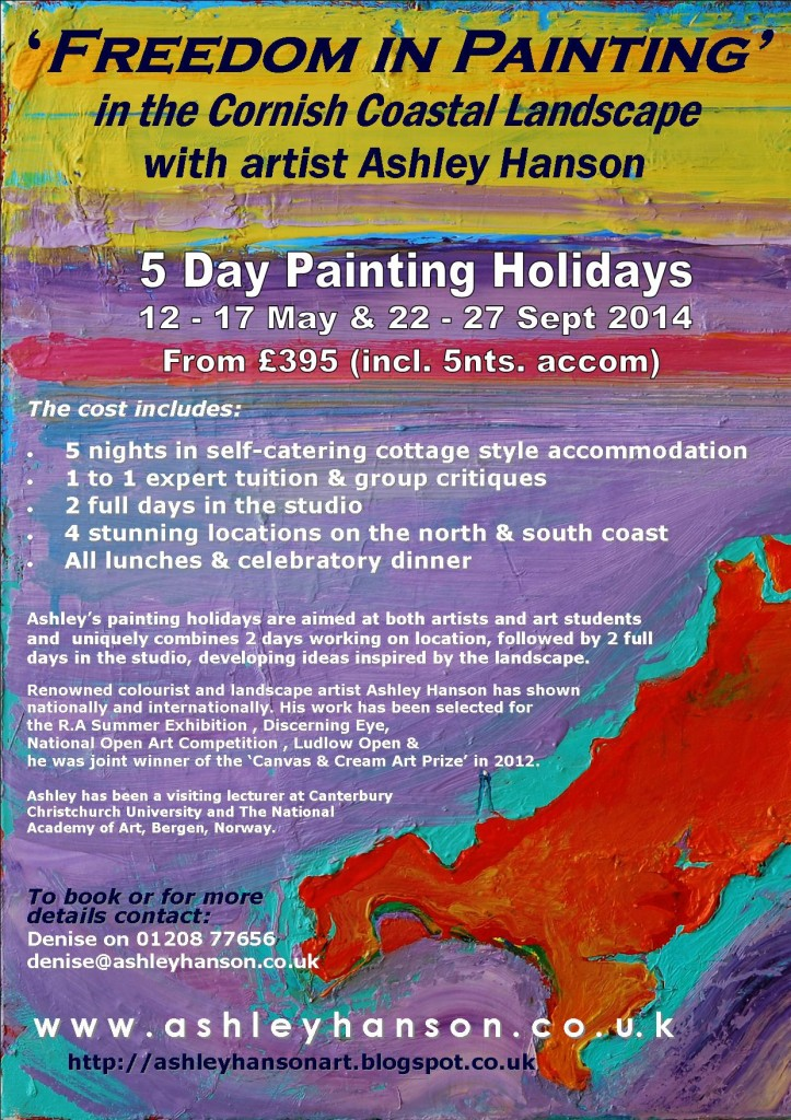 Freedom in Painting in Cornwall with Ashley Hanson