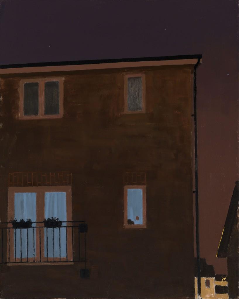 Danny Markey TV Room at Night Oil on canvas, 75cm x 60cm