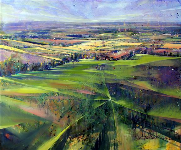 Sussex Weald II Acrylic on canvas  120 x 100cm  2013