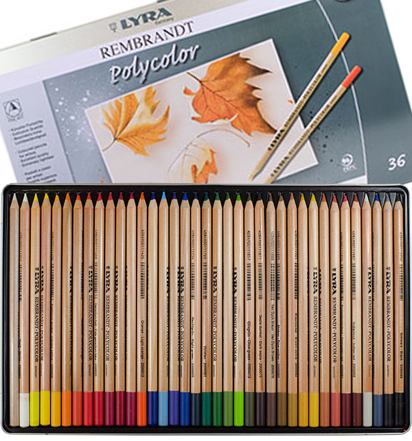 Lyra rembrandt polycolor coloured pencil set jacksonsart com drawing