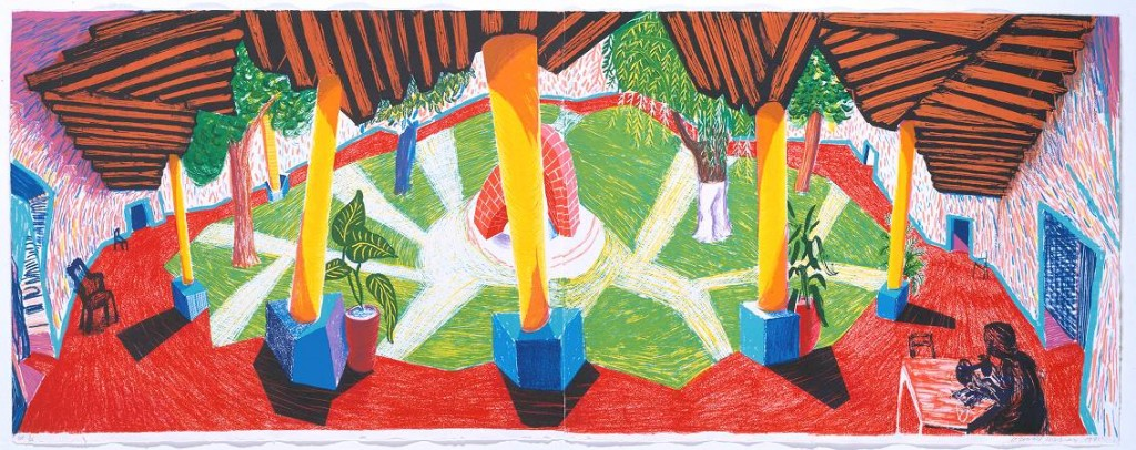 David Hockney Hotel Acatlán:Two Weeks Later 1985 Lithograph in colours