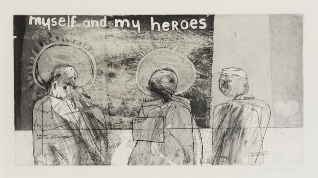 David Hockney Myself and My Heroes 1961 Etching with aquatint