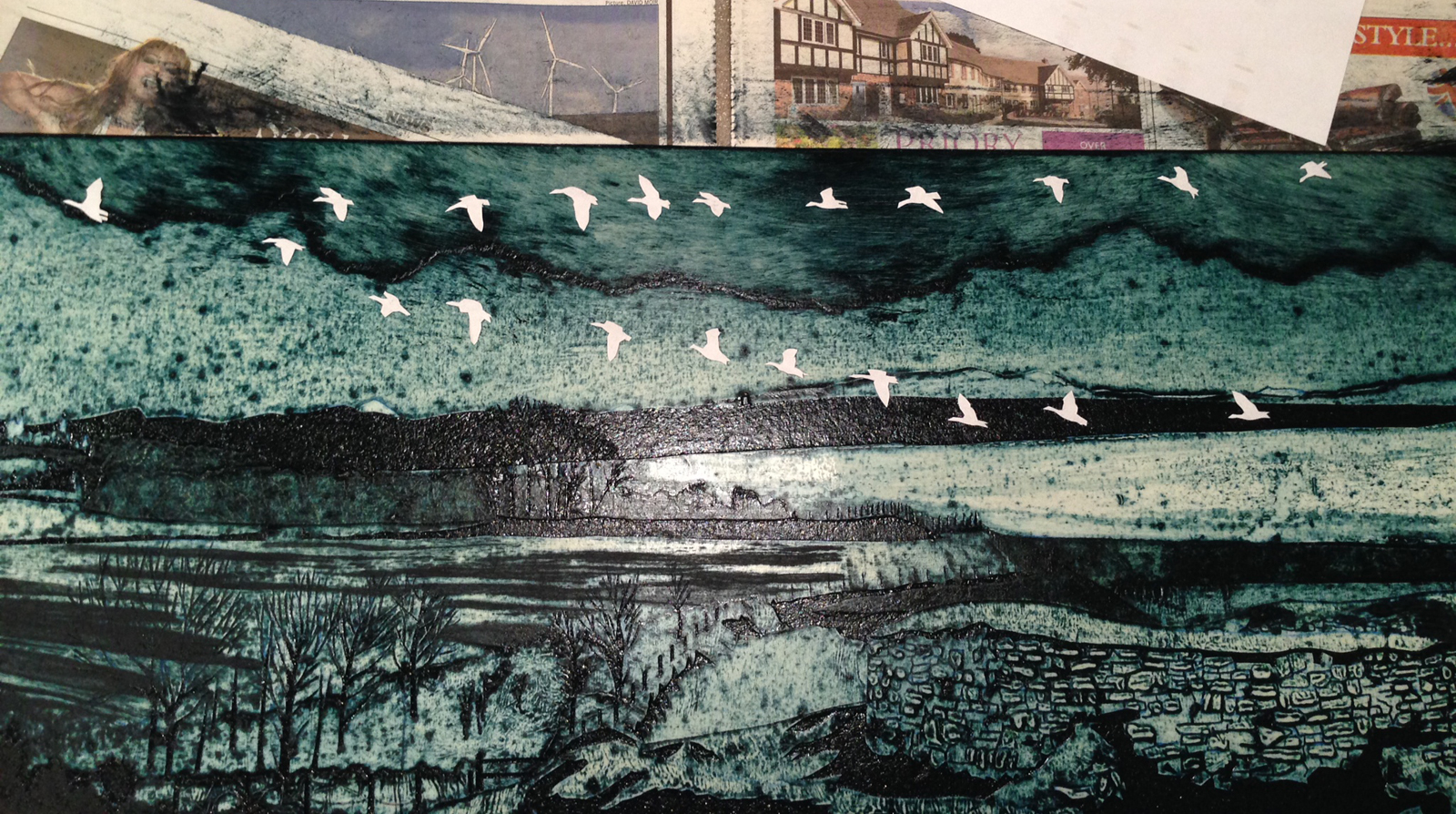 collagraph print making by suzie mackenzie