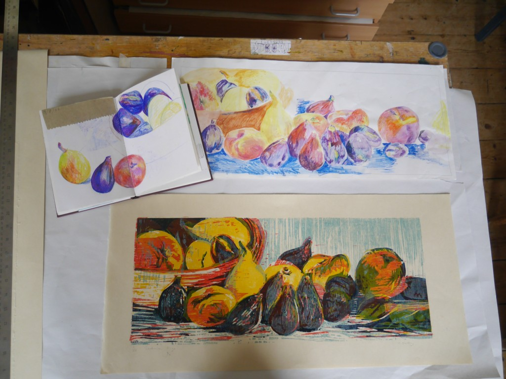 Hilary Daltry: Fruit Studies with Print
