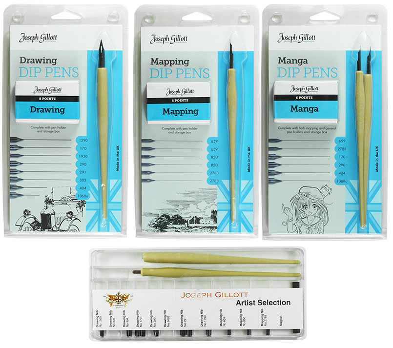 Joseph Gillott Drawing Pen sets