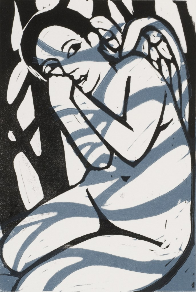 'Shadows in the Forest' by Anita Klein Linocut - edition of 100