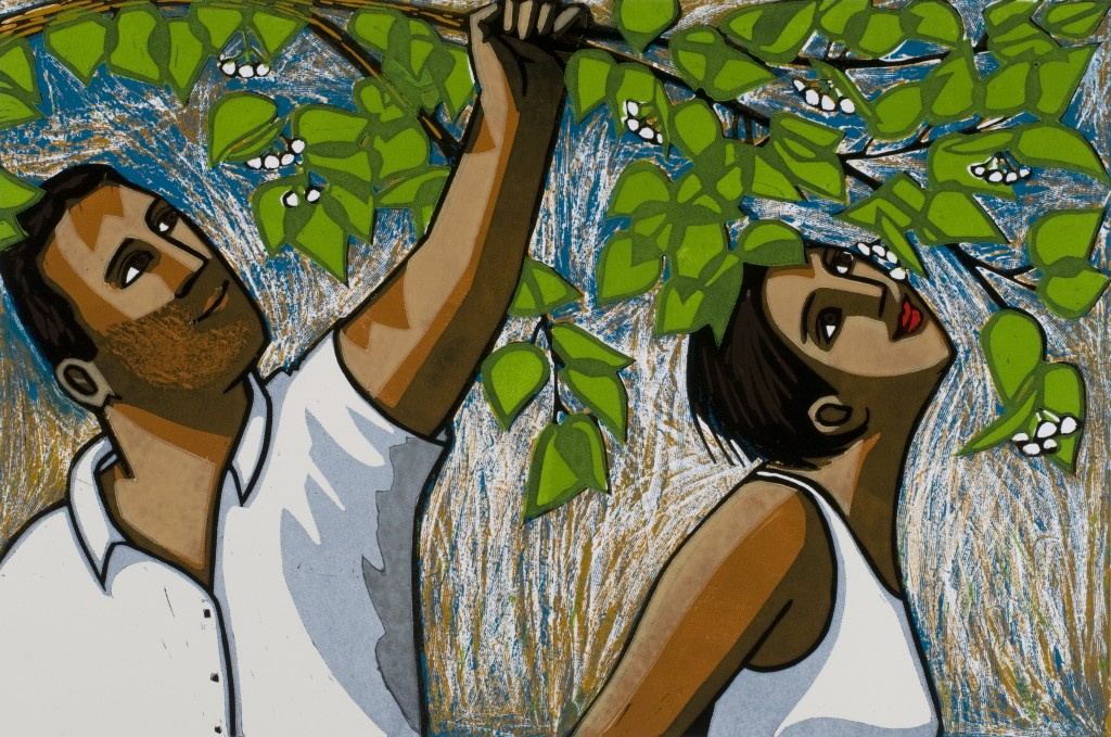 'The Linden Tree' by Anita Klein Linocut - edition of 50