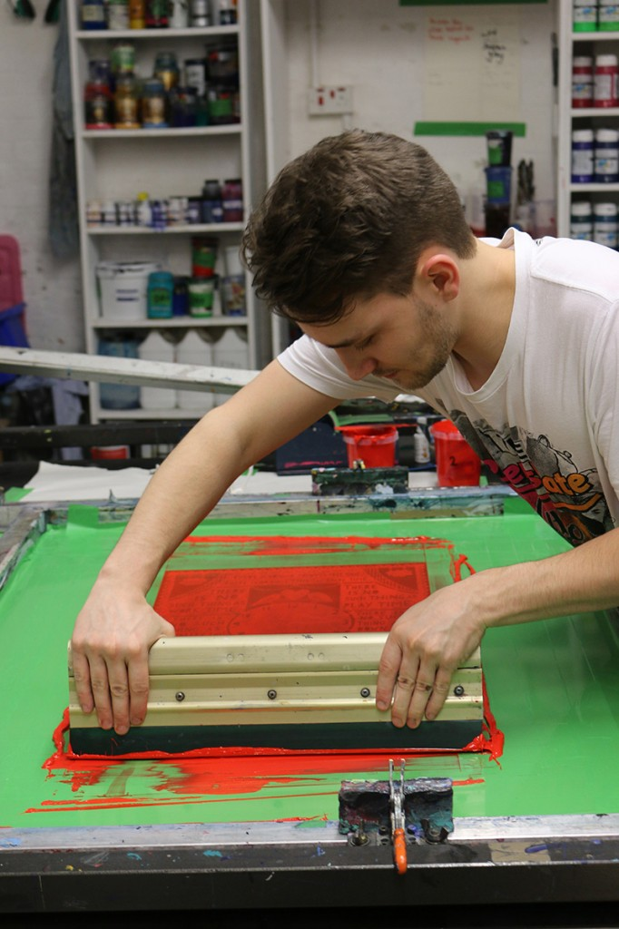 Printing the first colour