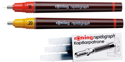 rotring rapidographs