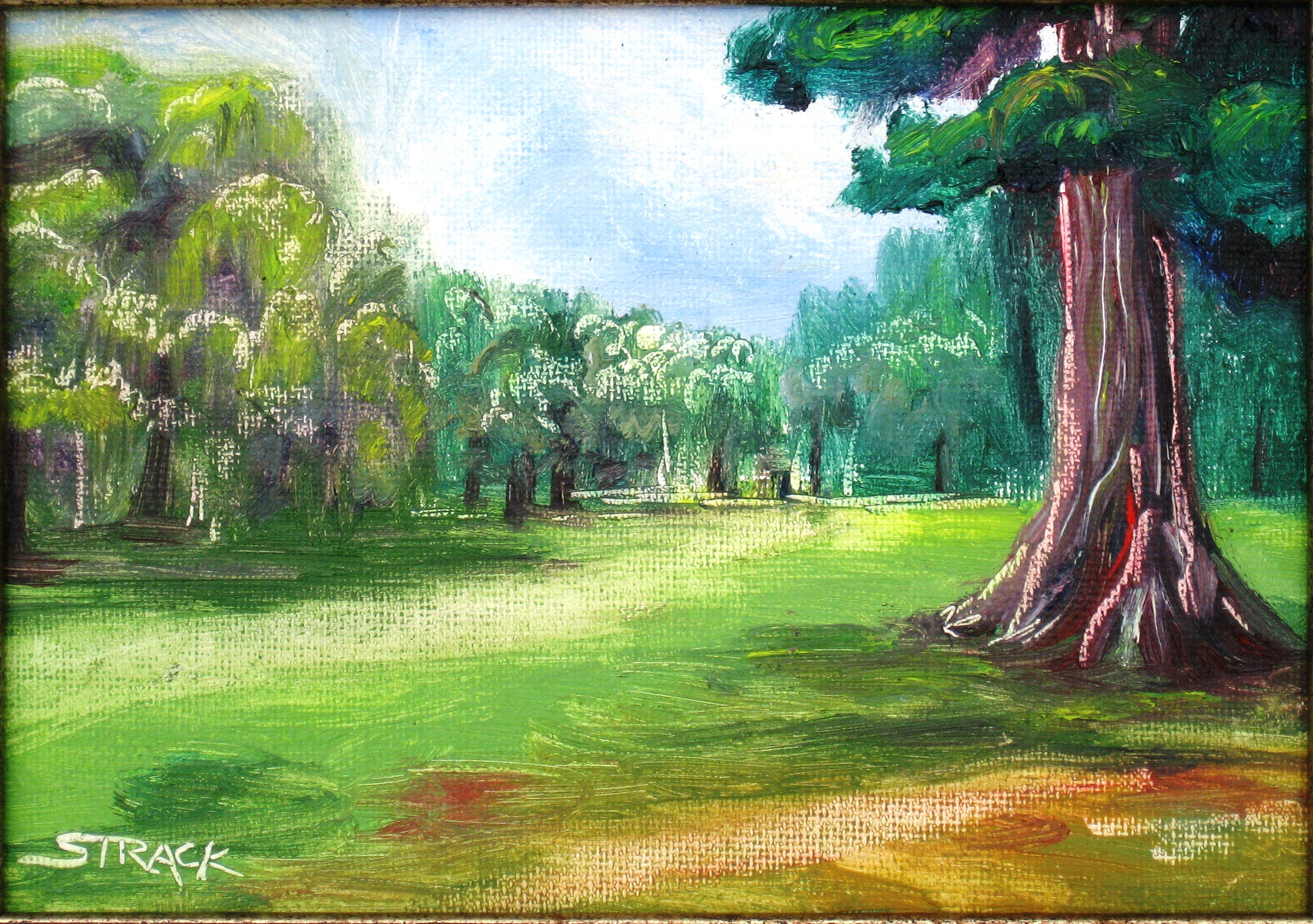 Everhardt Park by Annie Strack, oil
