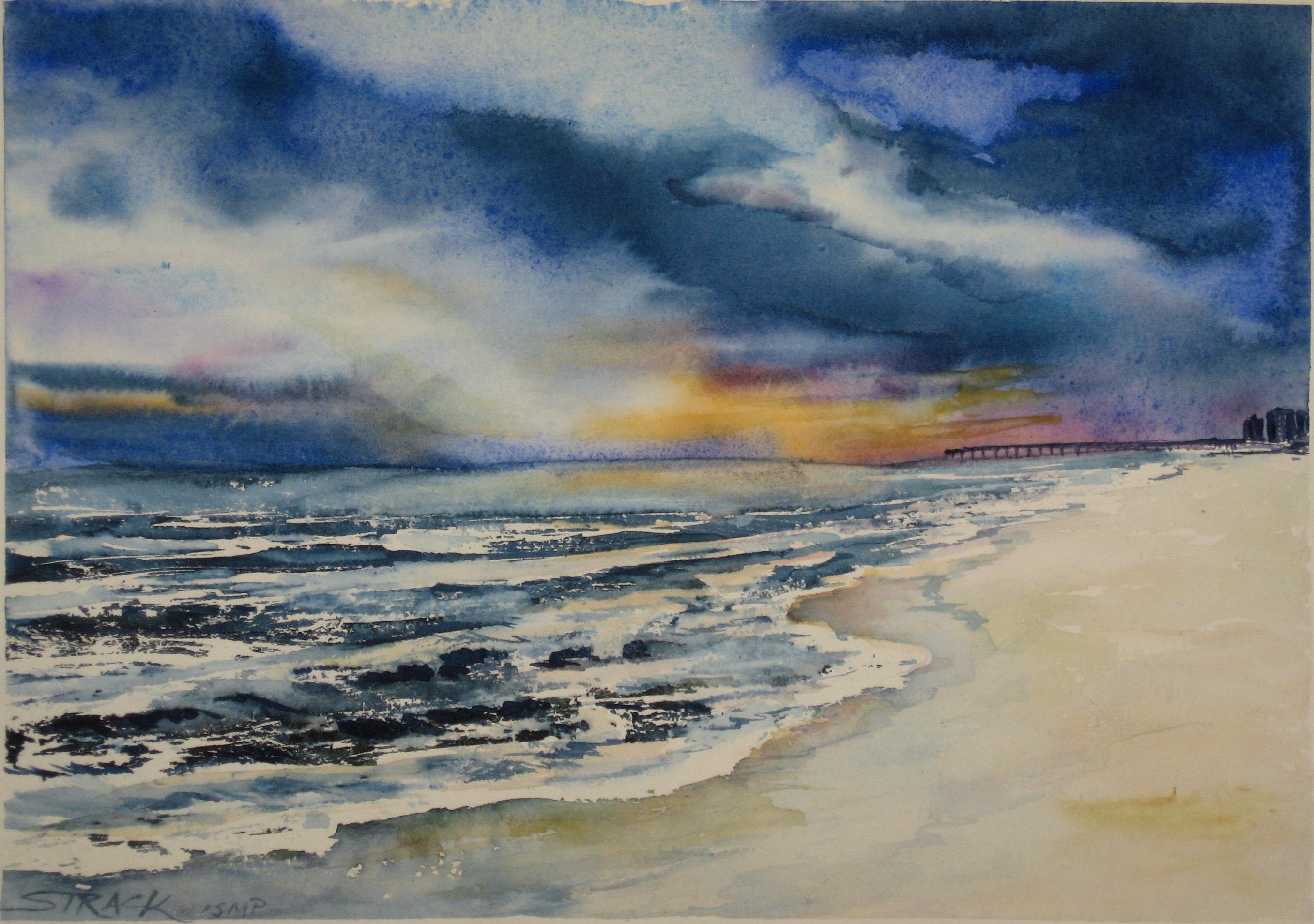 Pensacola Beach by Annie Strack, watercolour