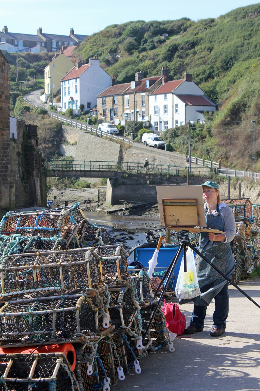 Painting in Staithes