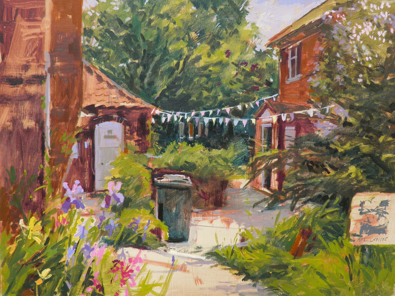 Plein air painting demo at Patchings Festival 2013