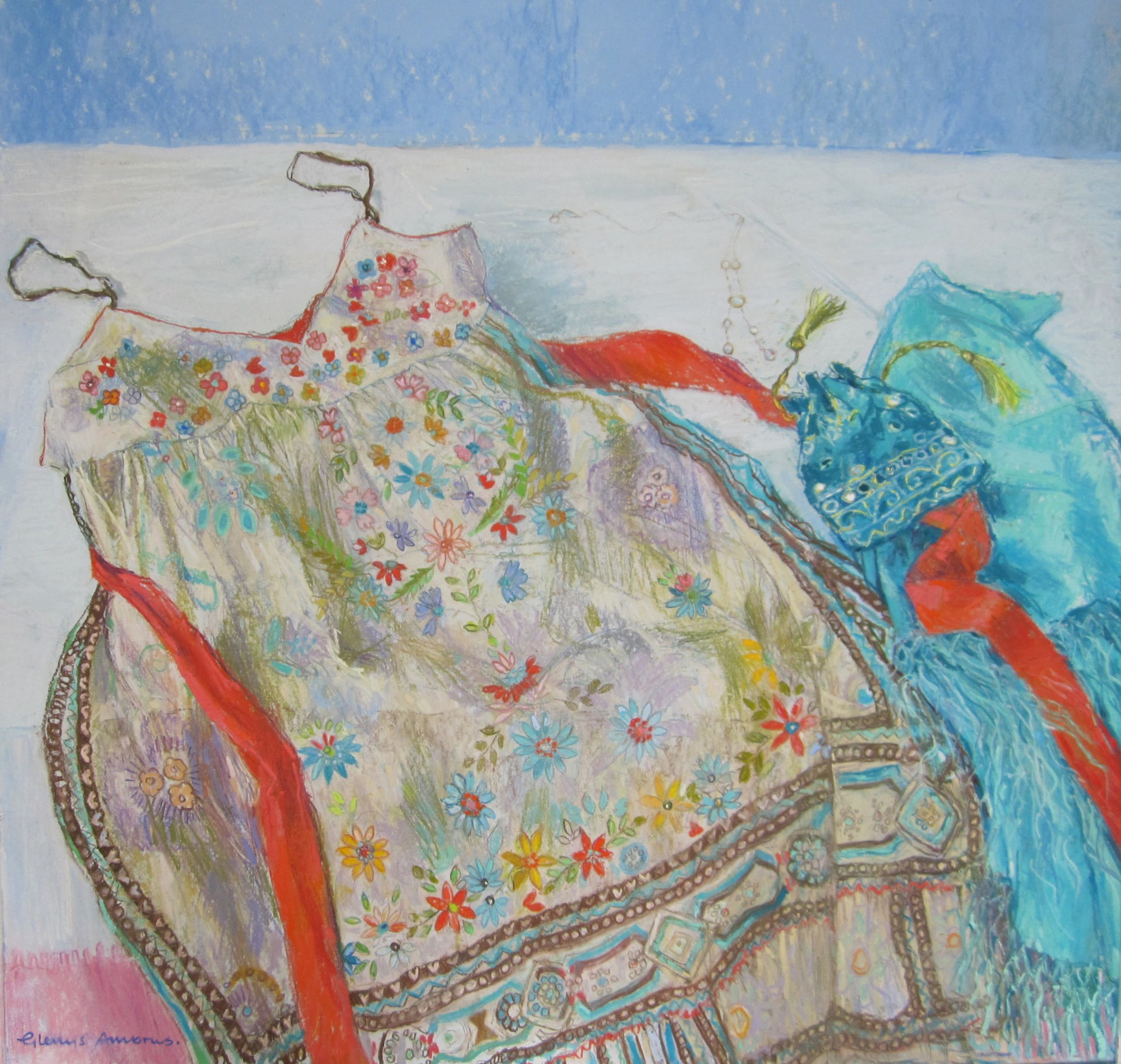Flowery dress by Glenys Ambrus PS  ARCA