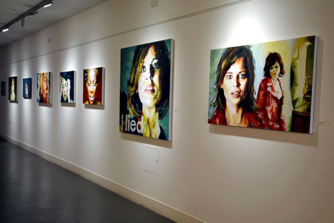 Sal Jones Painting exhibition hackney