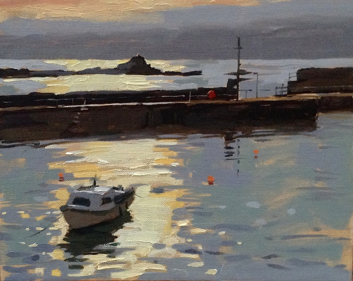 "Haidee-Jo Summers Silver light at Mousehole Oils 8"" x 10"""