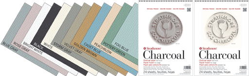Strathmore : 500 Series Charcoal Paper : 10 Sheet Pack