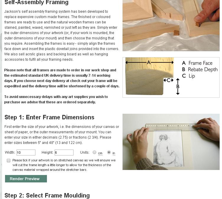 Jacksons Self Assembly Bespoke Framing - Jackson\'s Art Blog