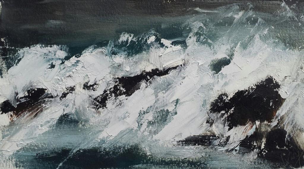 Hannah Ivory Baker oil painting Crashing Waves II