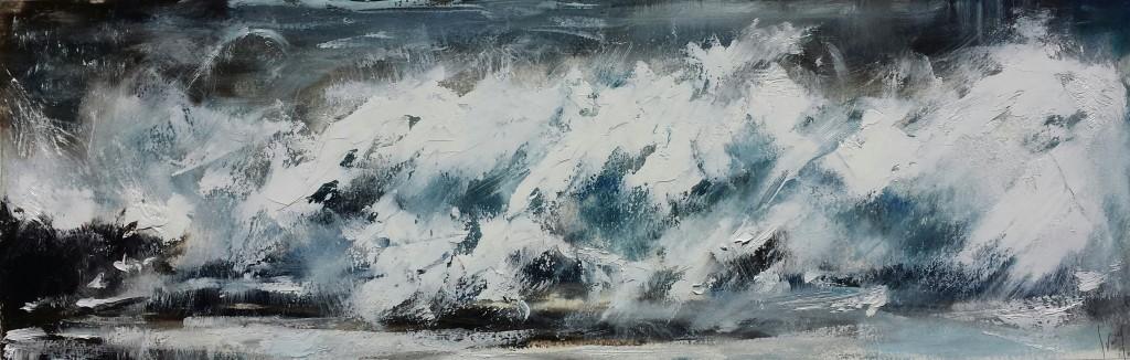 Hannah Ivory Baker oil painting Crashing Waves IV