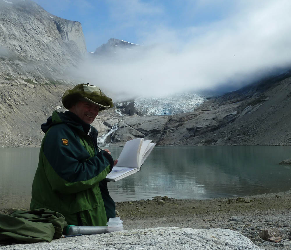 David Bellamy Sketching in Greenland