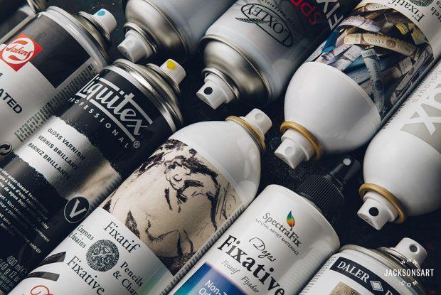 spray fixatives Jackson's Art