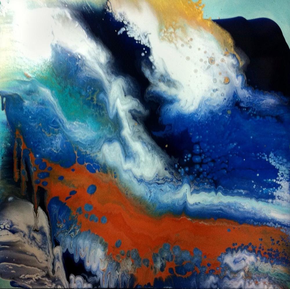 Ripple Acrylic painting  by Laura Fishman
