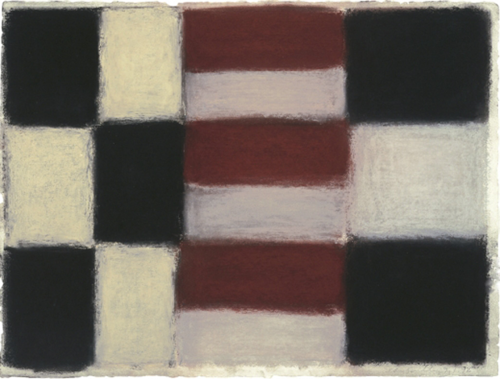 '9.1.96' by Sean Scully, pastel on paper, 22.5 x 30 inches, image courtesy of Michael Borghi Fine Art (www.michaelborghifineart.com)