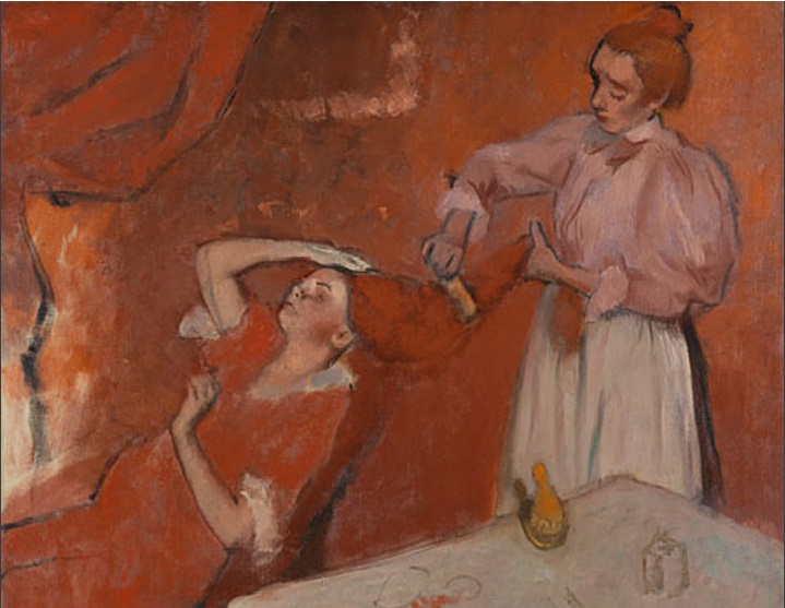 'Combing The Hair ('La Coiffure') by Hilaire-Germain-Edgar Degas (image courtesy of the National Gallery, London, www.nationalgallery.org.uk)