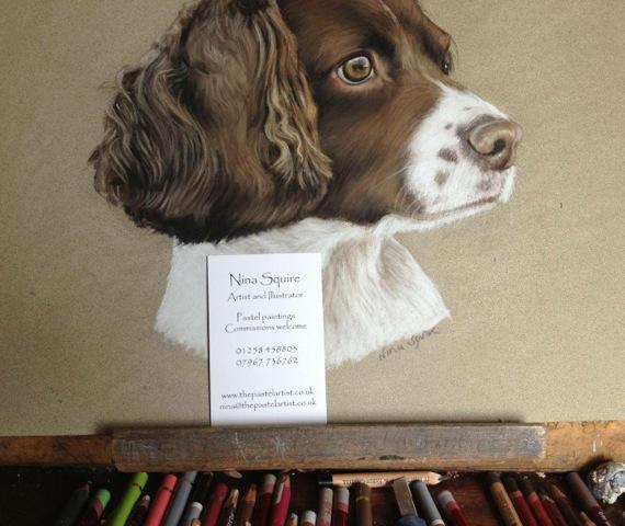 A pet portrait by Nina Squire