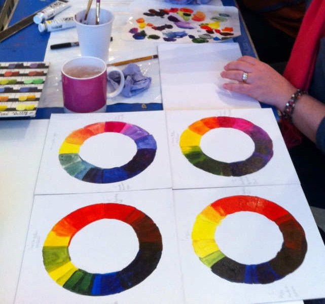 Laura Fishman Workshop : Colour Mixing with Golden Acrylics 08/11/14