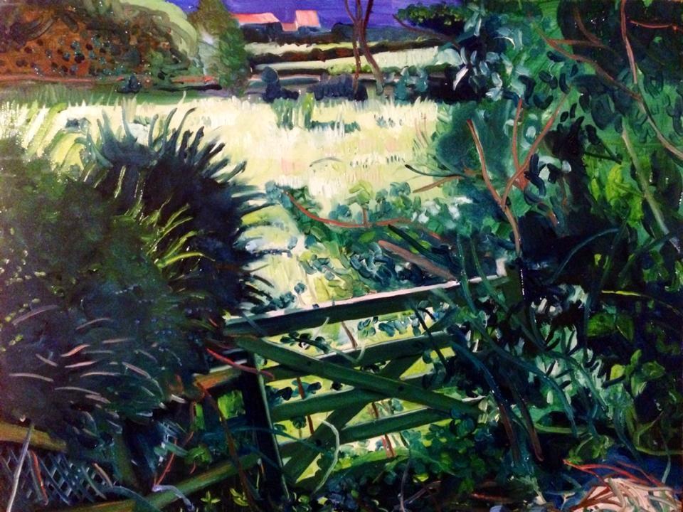 'Green Gate, Isle of Man', oil on canvas, 28cmx30cm