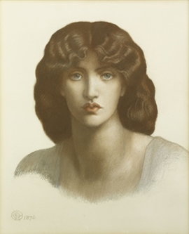 Study of Jane Morris for 'Mnemosyne' by Dante Gabriel Rossetti (image courtesy of the Art Gallery of NSW, Australia - www.artgallery.nsw.gov.au)