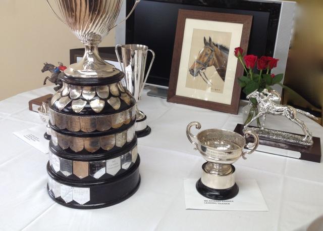 Nina's work displayed proudly alongside prestigious trophies