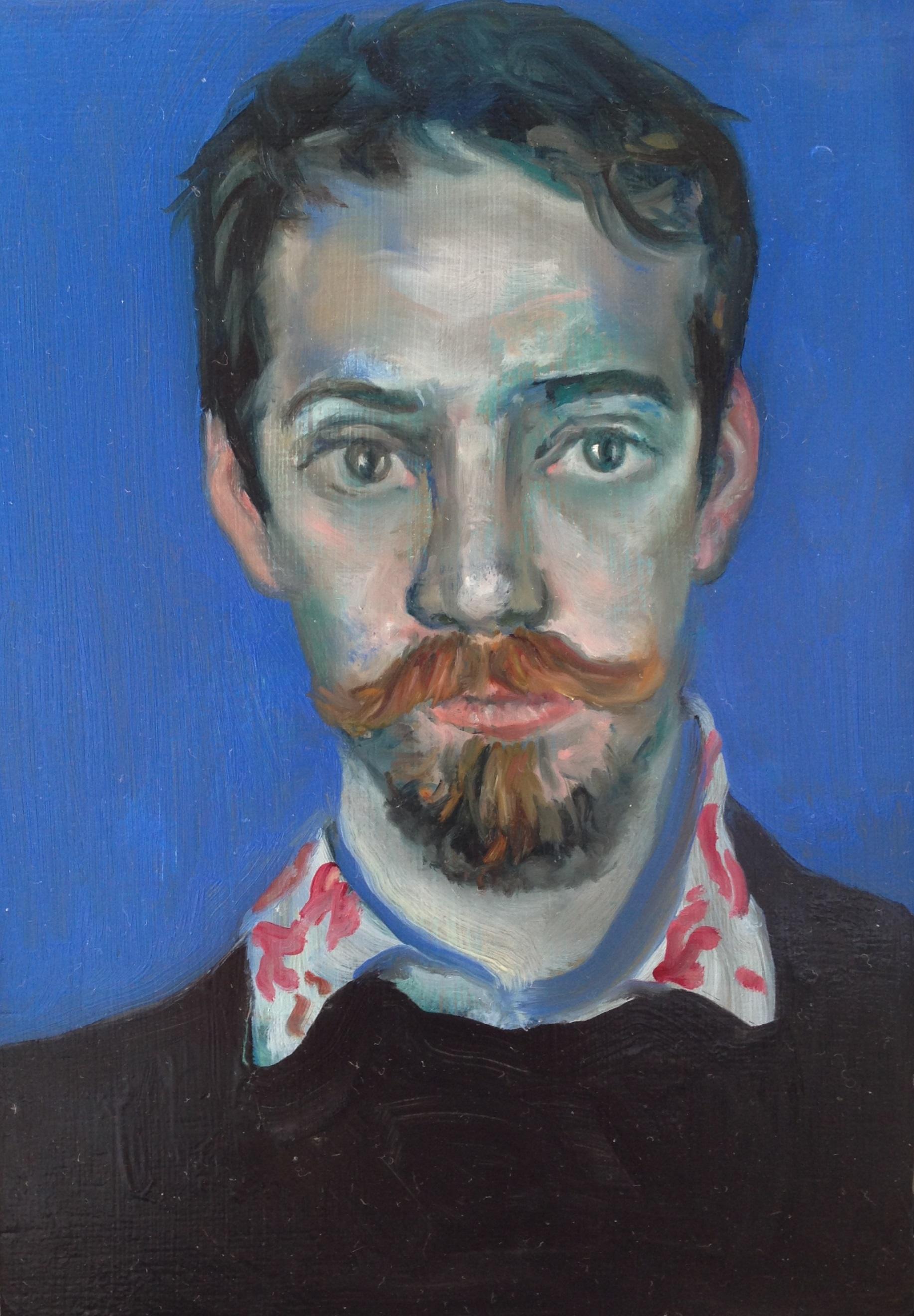 'Portrait of Conor' by Conrad Frankel, oil on canvas, 10cm x 15cm