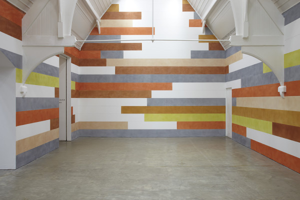 Installation shot from '3 Drawing Rooms' by David Tremlett, image courtesy of Ikon Gallery (http://ikon-gallery.org/)