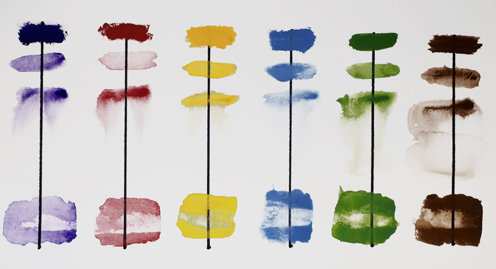 Winsor Gouache chart to see the four characteristics.