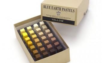 Blue Earth Soft Pastels : 28 Stick Box Tonal Values Set Yellow